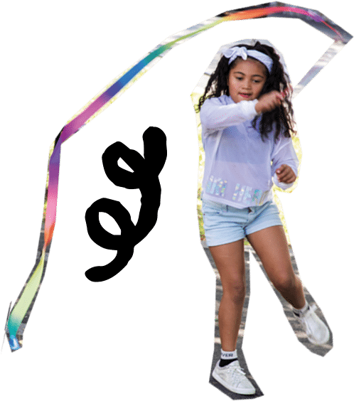 girl ribbon streamer
